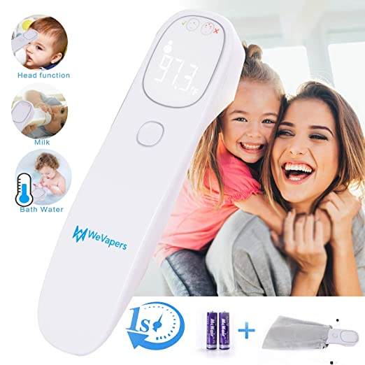 Forehead Thermometer, Baby Thermometer Non Contact Digital Medical Infrared Thermometer for Fever, Kid and Adult Thermometer, 4 Modes Digital Thermometer for Body Surface and Room best non-contact infrared thermometers