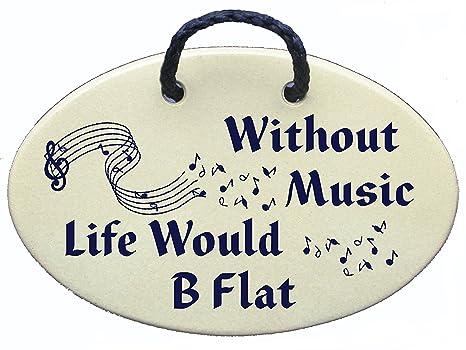 Amazon.com: Sin música vida sería B Flat. Ceramic Wall ...