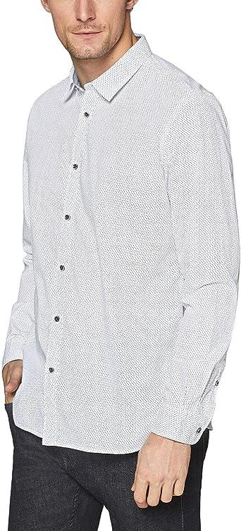 ESPRIT 128EE2F004-Camisa casual Hombre Blanco 100 Blanco XL: Amazon.es: Ropa y accesorios