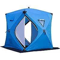 Leeofty Portable Ice Fishing Shelter Easy Set-up Winter Fishing Tent Ice Fishing Tent Waterproof & Windproof
