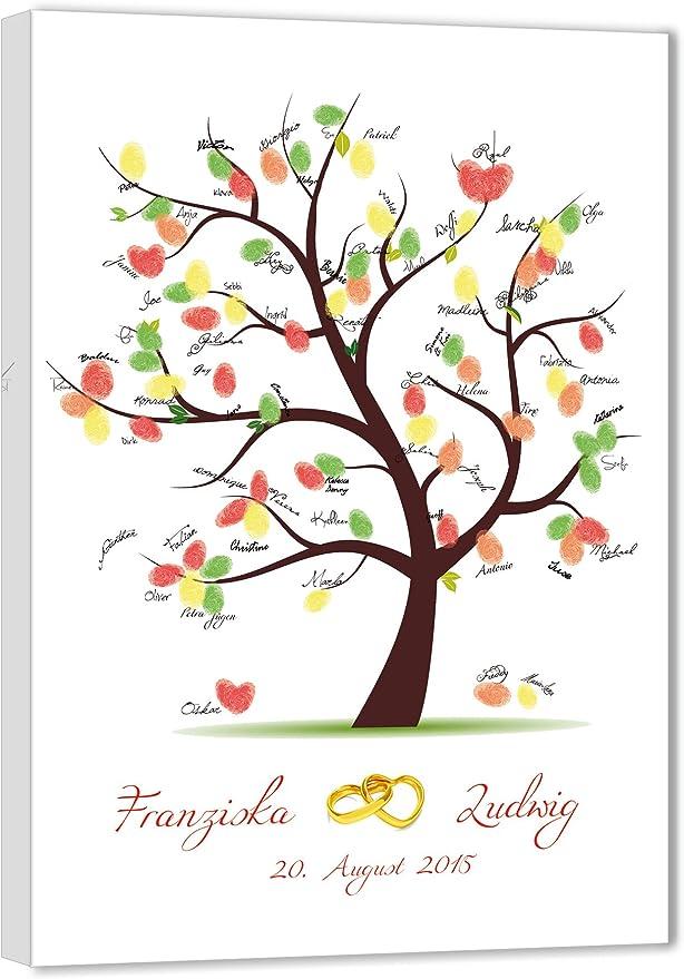 Fingerabdruck-Baum Hochzeitsgäste