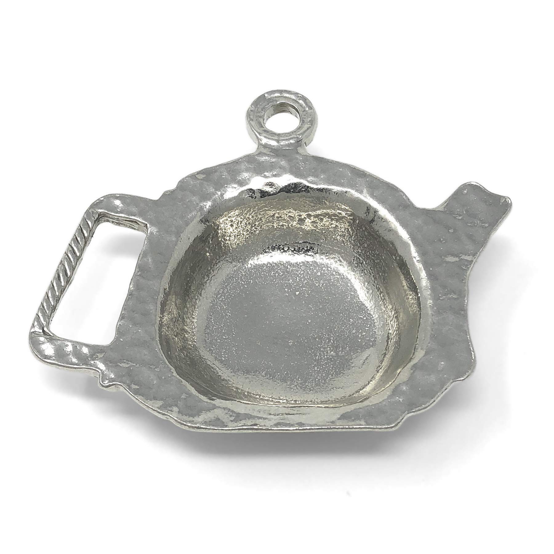 Crosby & Taylor Teapot Shaped Pewter Teabag Holder Trinket Dish by Crosby & Taylor