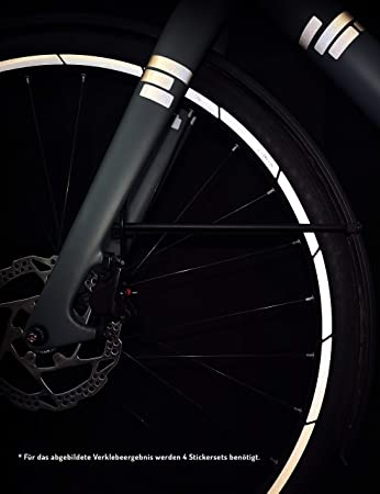 Reflektierende aufkleber reflektoren für fahrrad mountain bike rad felgen schut