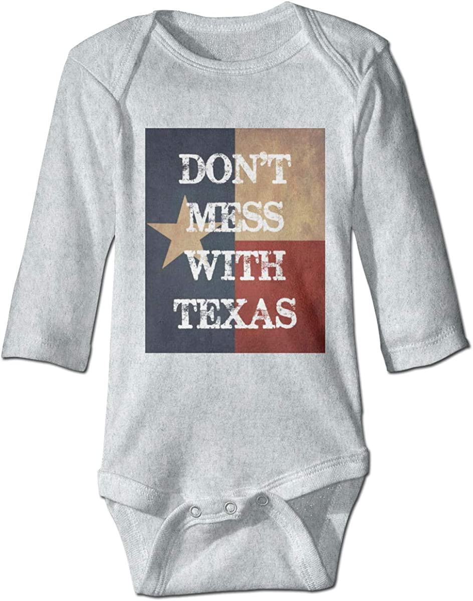 Smooffly Baby Boys Girls Dont Mess with Texas Long-Sleeve Bodysuit One-Piece Playsuits