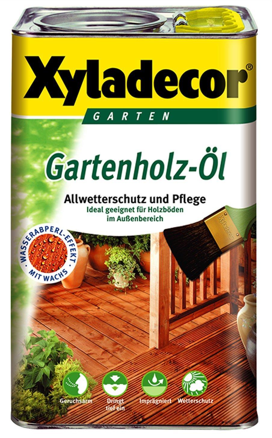 Xyladecor, olio per pavimenti in legno da esterni, 2,5litri, colore scuro naturale AkzoNobel