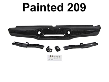 CH1102338 Crash Parts Plus Painted Black Steel Rear Bumper for 1997-2001 Jeep Cherokee CH1102347
