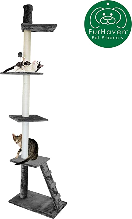 Ladder Playground Fur Haven Tiger Tough Cat Tree House Furniture For Cats And Kittens Floor To