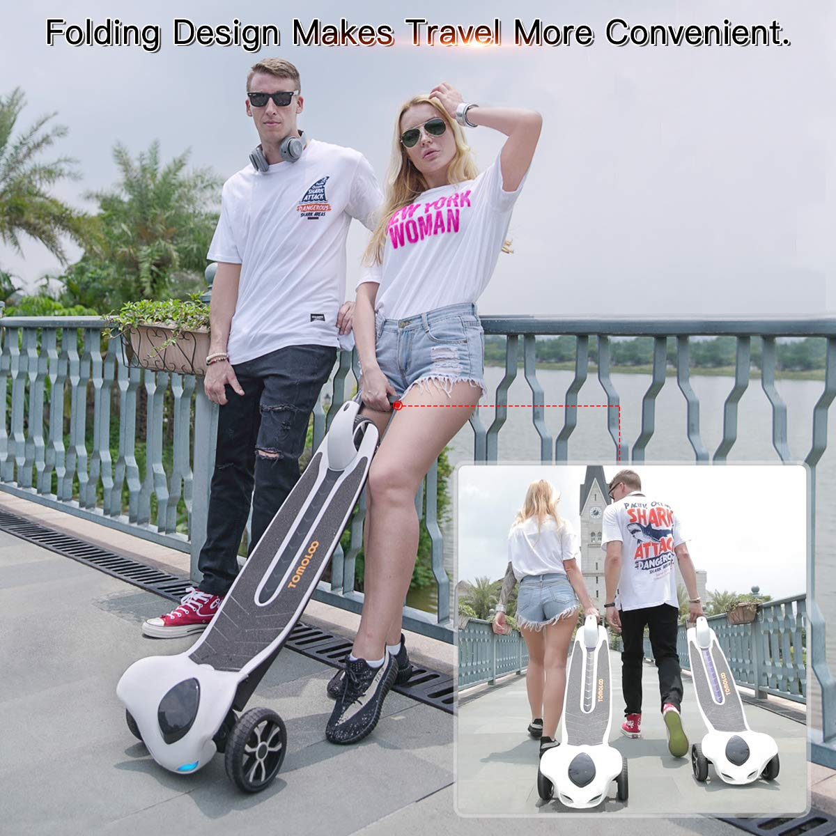 Electric Skateboard with Bluetooth -- TOMOLOO Dragon knight H3  -- Longboard with Remote Controller, 17.5 MPH Top Speed, 12 Miles Max Range by TOMOLOO (Image #5)