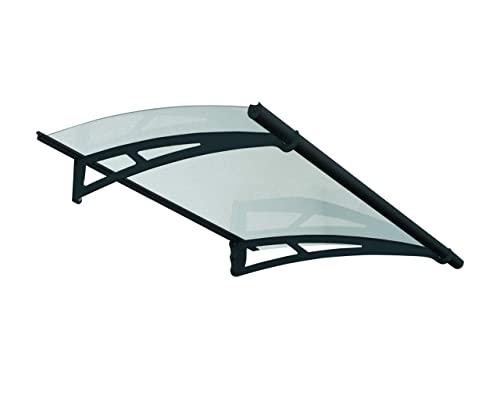 Palram Aquila 1500 Door Window Awning, 5 L x 3 W x 6.5 H – Gray Solar Gray