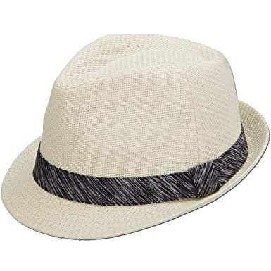19307d79ed Panama Jack Women's Fedora Hat - Lightweight Matte Toyo Straw, 1 3/4