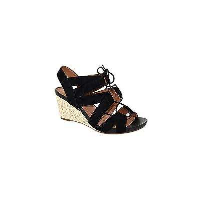 3b398c276ef CLARKS Artisan Acina Chester Wedge Sandals Black Suede 7.5 M