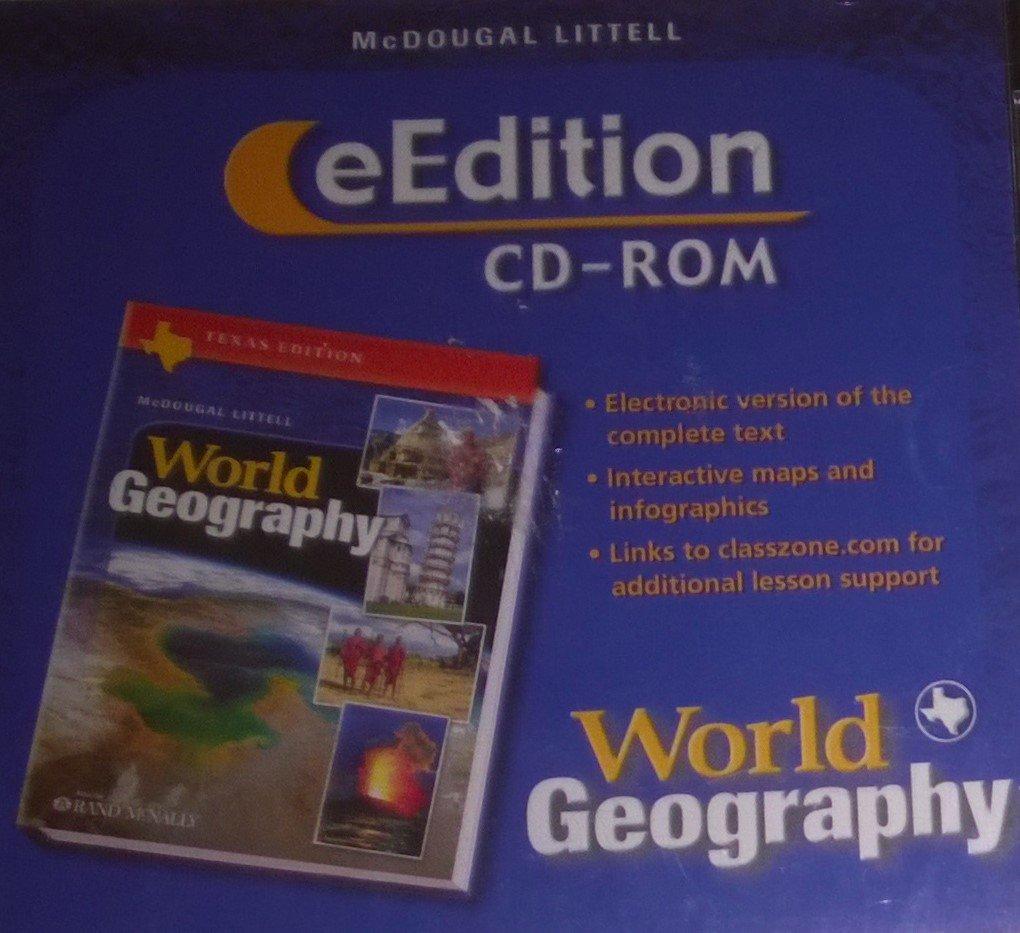 Read Online McDougal Littell World Geography Texas: eEdition CD-ROM Grades 9-12 2003 pdf