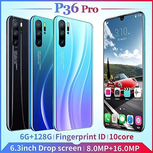 P36 Pro 6.3 Pulgadas Doble Tarjeta Inteligente 6 + 128G Soporte de ...