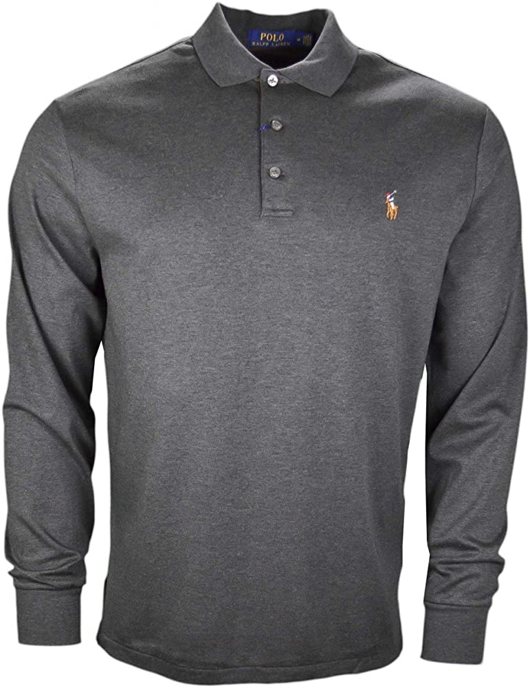 Polo Ralph Lauren Long Sleeve-Knit, Polo para Hombre, Grau ...