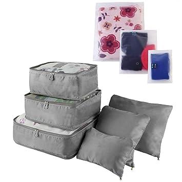 Amazon.com: Moclever Juego de 9 cubos de embalaje de viaje y ...