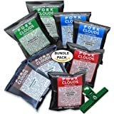 Pork Clouds, Sampler 8 Pack Assortment, Includes Chip Bag Clip