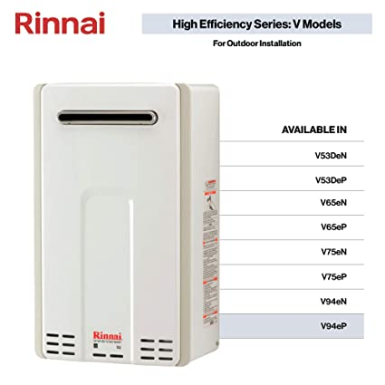 Rinnai V Series HE Tankless Hot Water Heater: Outdoor Installation on