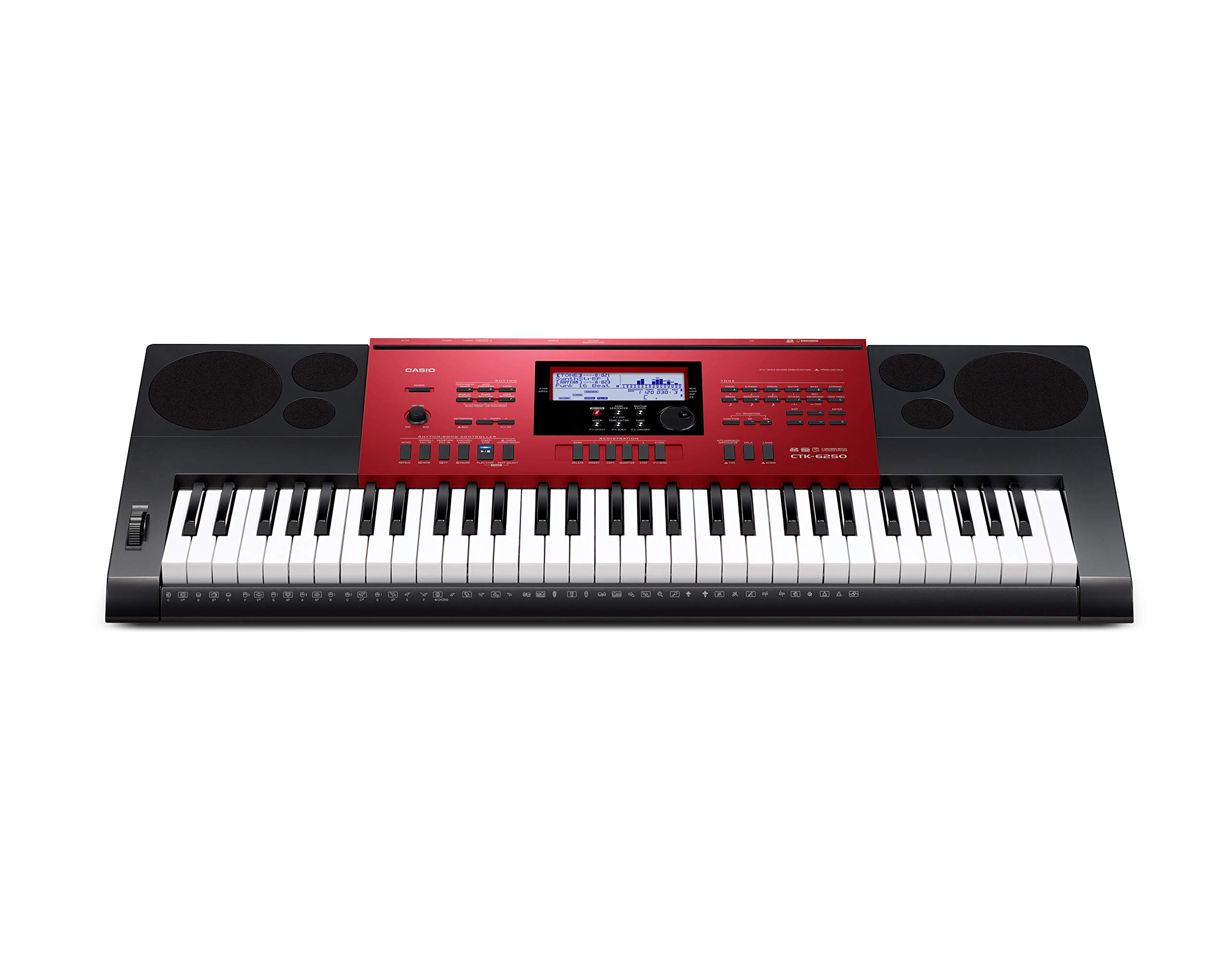 Casio CTK-6250 61-Key Keyboard with Power Supply by Casio