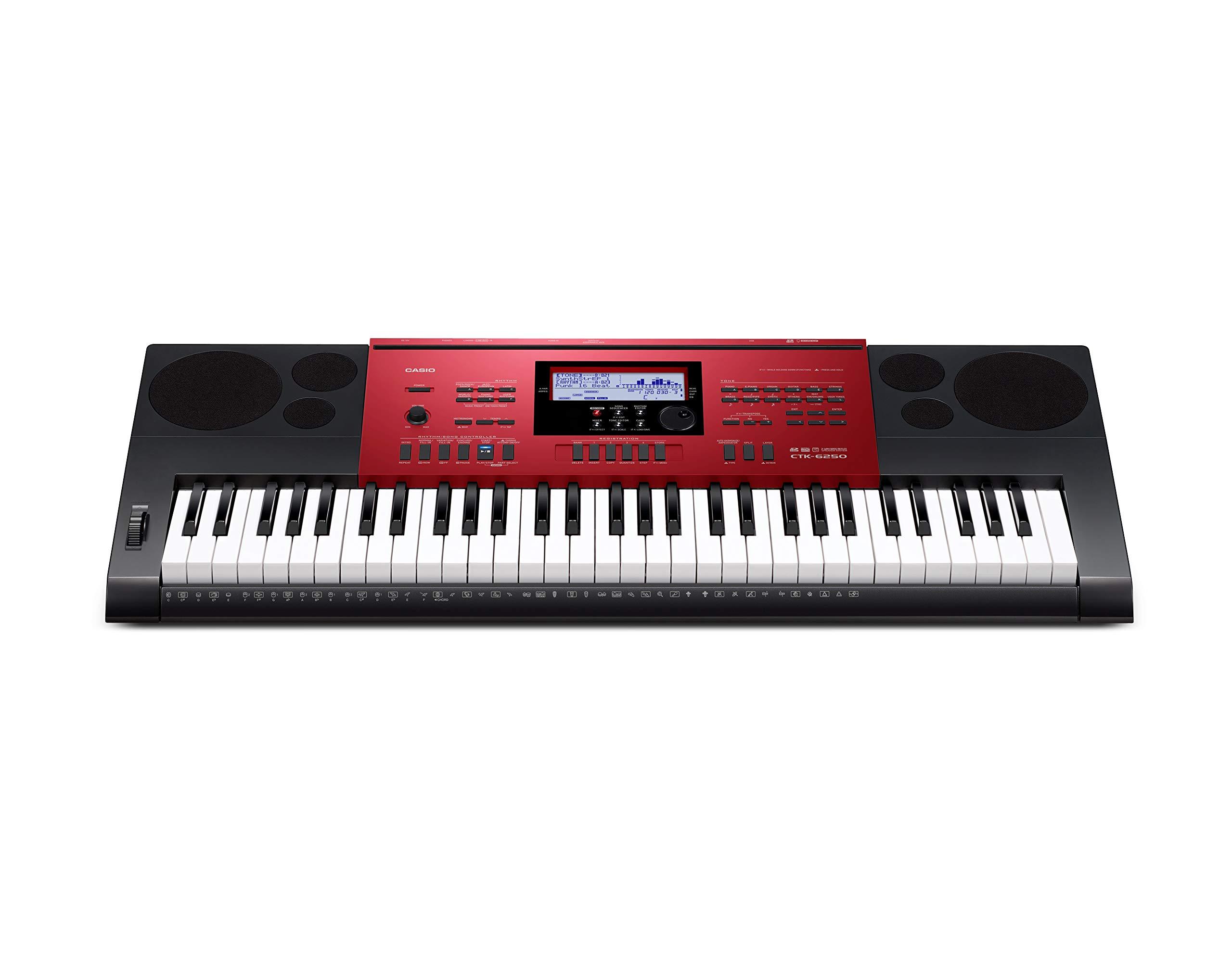 Casio CTK-6250 61-Key Keyboard with Power Supply by Casio (Image #1)