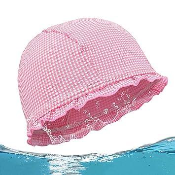 829bca3fadf Amazon | 水泳 キャップ 水泳帽 キッズ 格子縞の水泳帽 水泳キャップ子供 ...