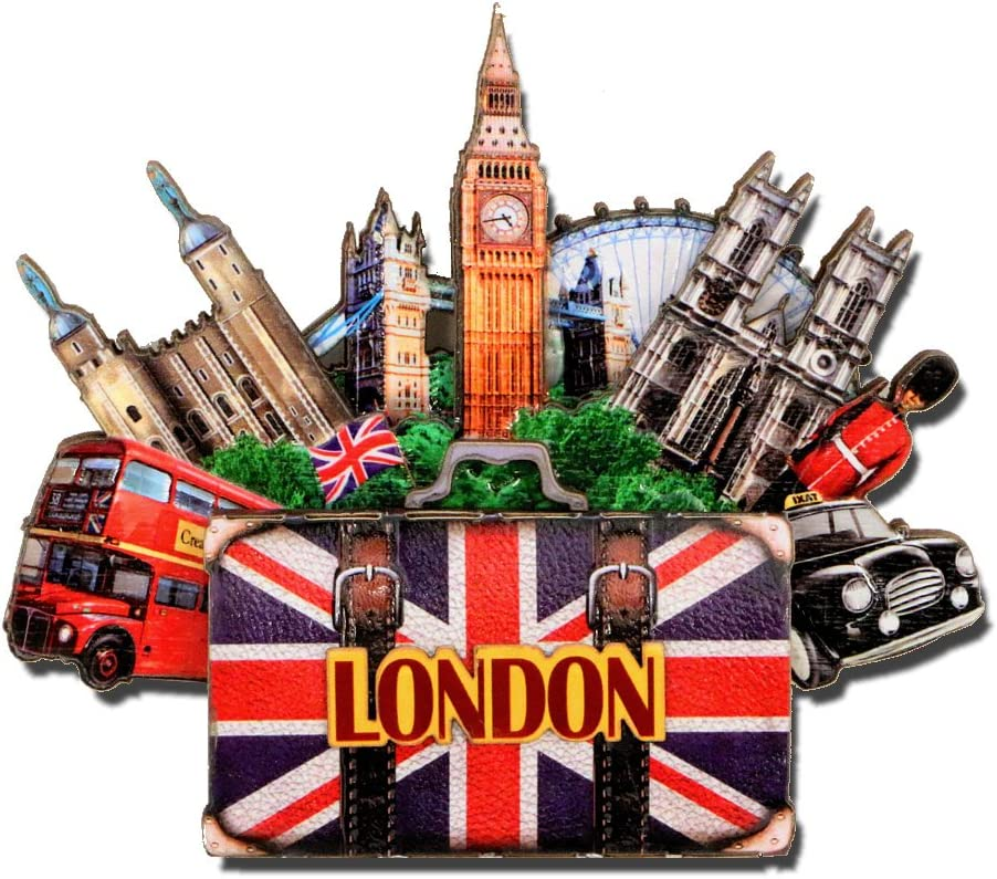 City-Souvenirs London Magnet 4 Inch 3D Big Ben Magnet and London Landmarks