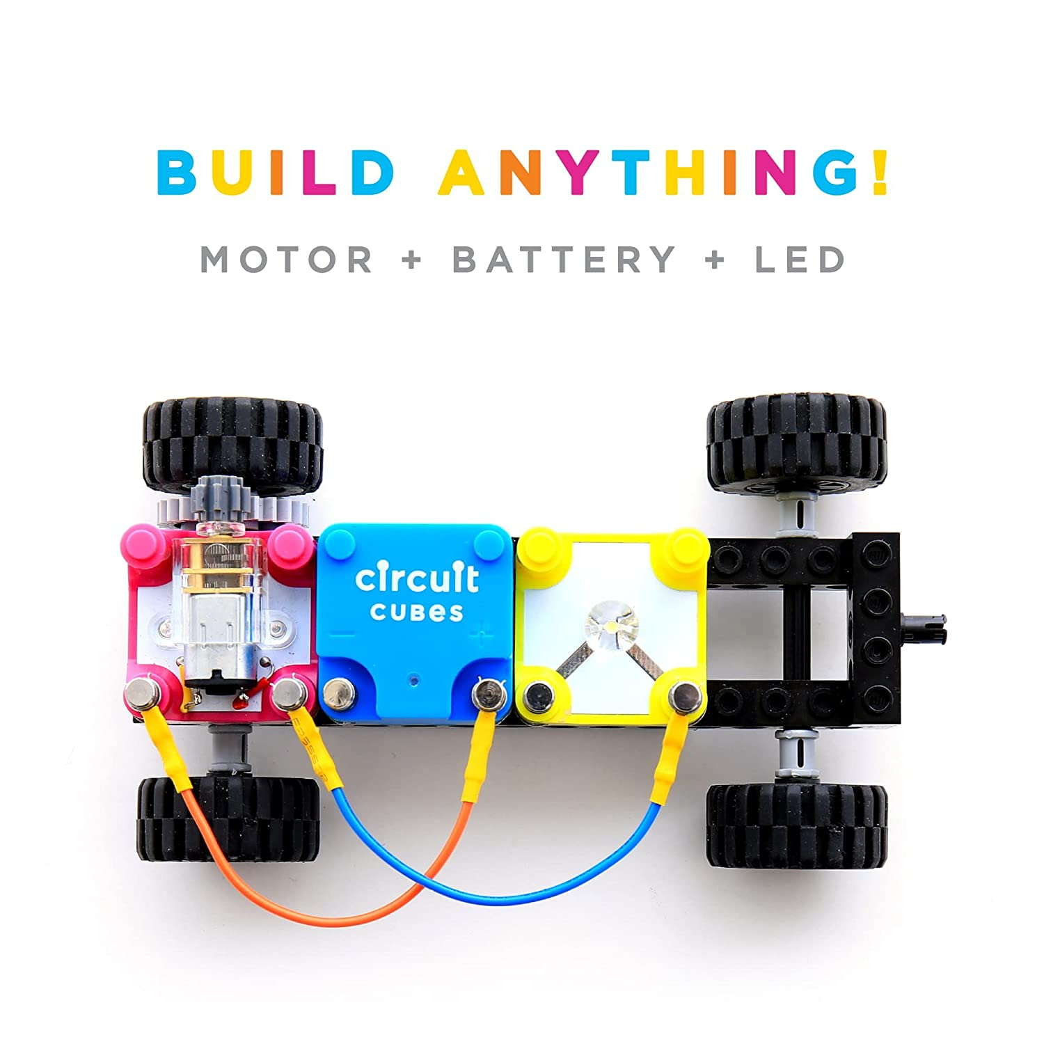 Multicolor Circuit Cubes Bright Lights Educational Stem Learning Toy Kit