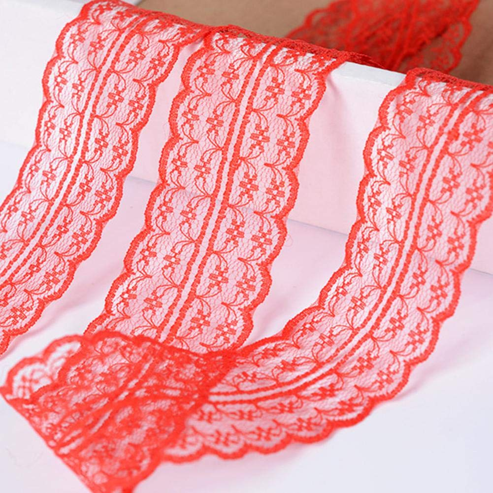 Todaytop 10M Colorful Lace Ribbon Clothing Accessories DIY Embroidered Net Handmade Trim Fabric Cord for Sewing Decoration