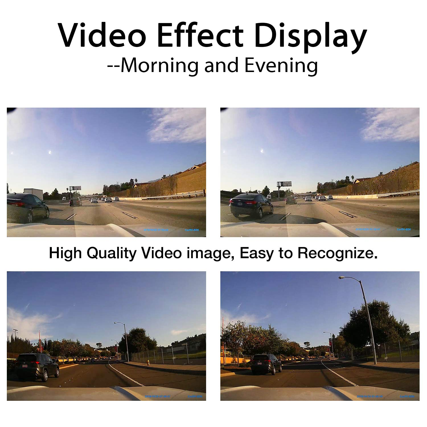 Night Vision G-Sensor Dash Cam Built in WiFi Car Dashboard Camera Recorder with FHD 1080P 3 LCD 170/° Wide Angle Loop Recording Parking Monitor Motion Detection