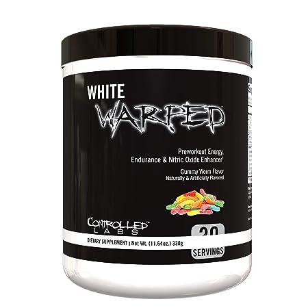 Controlled Labs, White Warped Preworkout Energy, Endurance Nitric Oxide Enhancer 30 Serv Gummy Worms