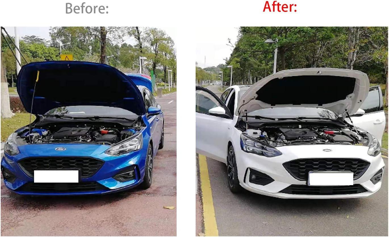 RUIYA Kadjar Motorhaubenst/ütze Motorhauben Gasfeder Schwarze Gasdruckfeder Motorhaube Aus ABS-Kunststoff und starker Zinklegierung【2 St/ück】