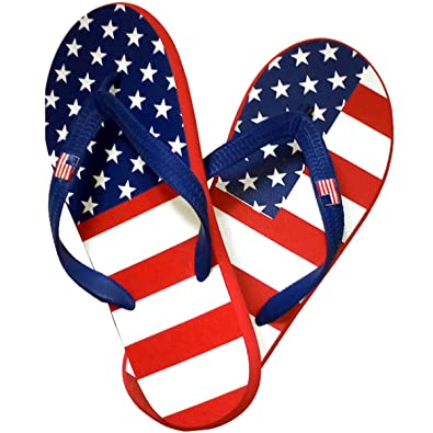 179b168a39f8 TheFlagShirt Women s American Flag Flip Flops ...