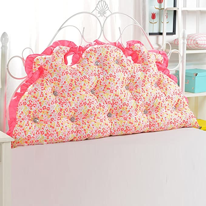 GUOWEI Coussin de chevet Canapé-lit Grand coussin triangulaire rempli Coussin couché Support de positionnement du dossier Oreiller de lecture d'oreiller avec housse amovible -2 Couleurs, 4 tailles disponibles Bu