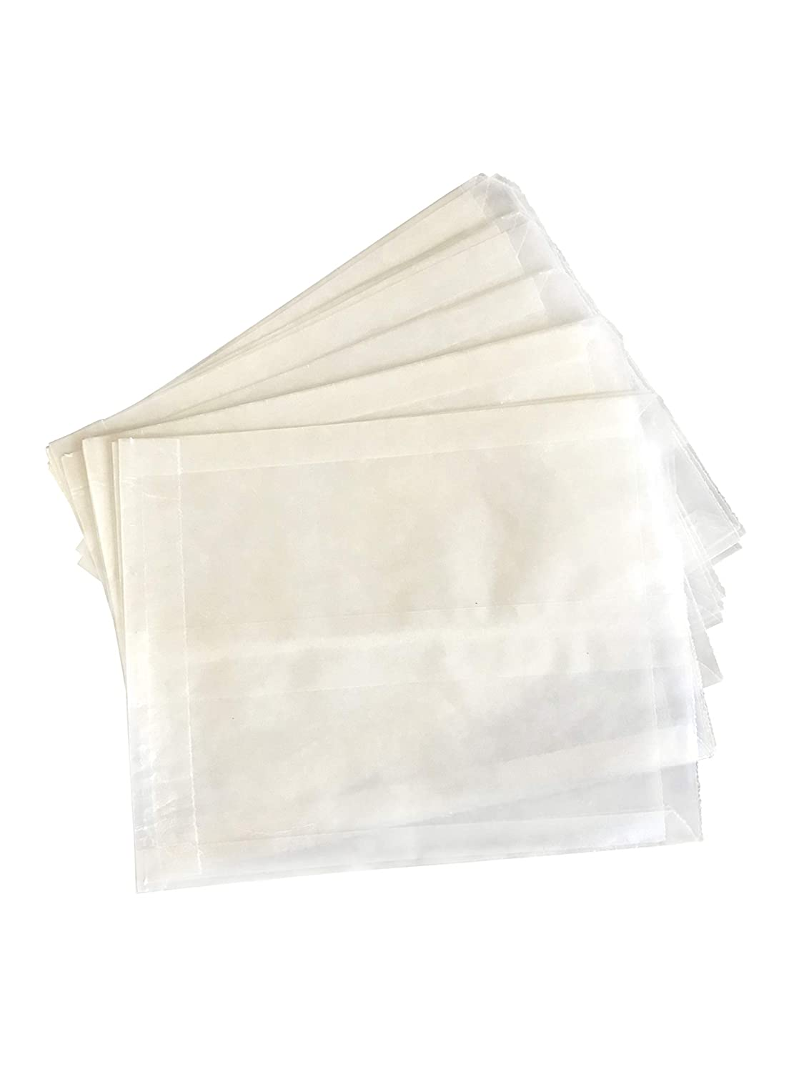 Plain Wet Wax Sandwich Bags – Food Grade Grease Resistant White Paper Bags for Sandwiches Snacks Baked Goods Crafts Cookies – Made in USA (Pack of 100)