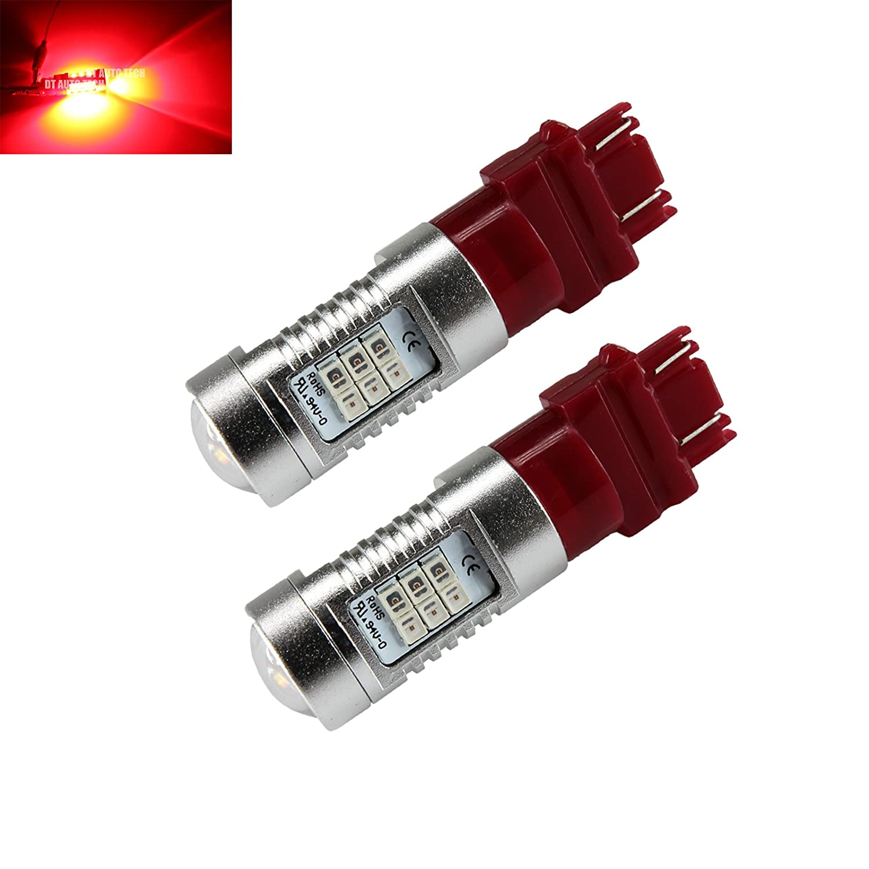 Syneticusa/1156アンバー/50Wハイパワー3535チップLEDプロジェクターターンシグナル/ブレーキ/テール/リバース/駐車場の電球/7443分の1157 3157 赤 B0719JX9PW 赤 3157