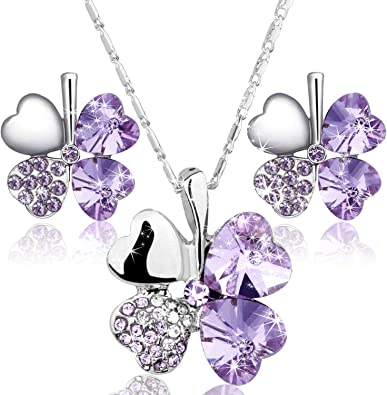 Lia Sophia Femmes Bijoux Sets Silver Tone Drop Boucles D/'Oreilles Opale Collier Pendentif