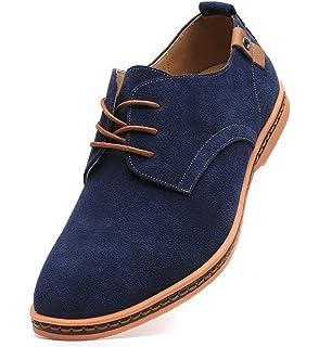 DADAWEN Men s Classic Suede Leather Oxford Dress Shoes Business Casual Shoes 0d7d96c34d3