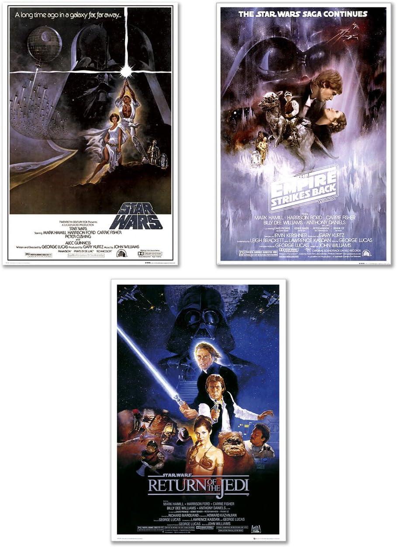 Amazon Com Star Wars Episode Iv V Vi Movie 24x36 Poster Posters Prints