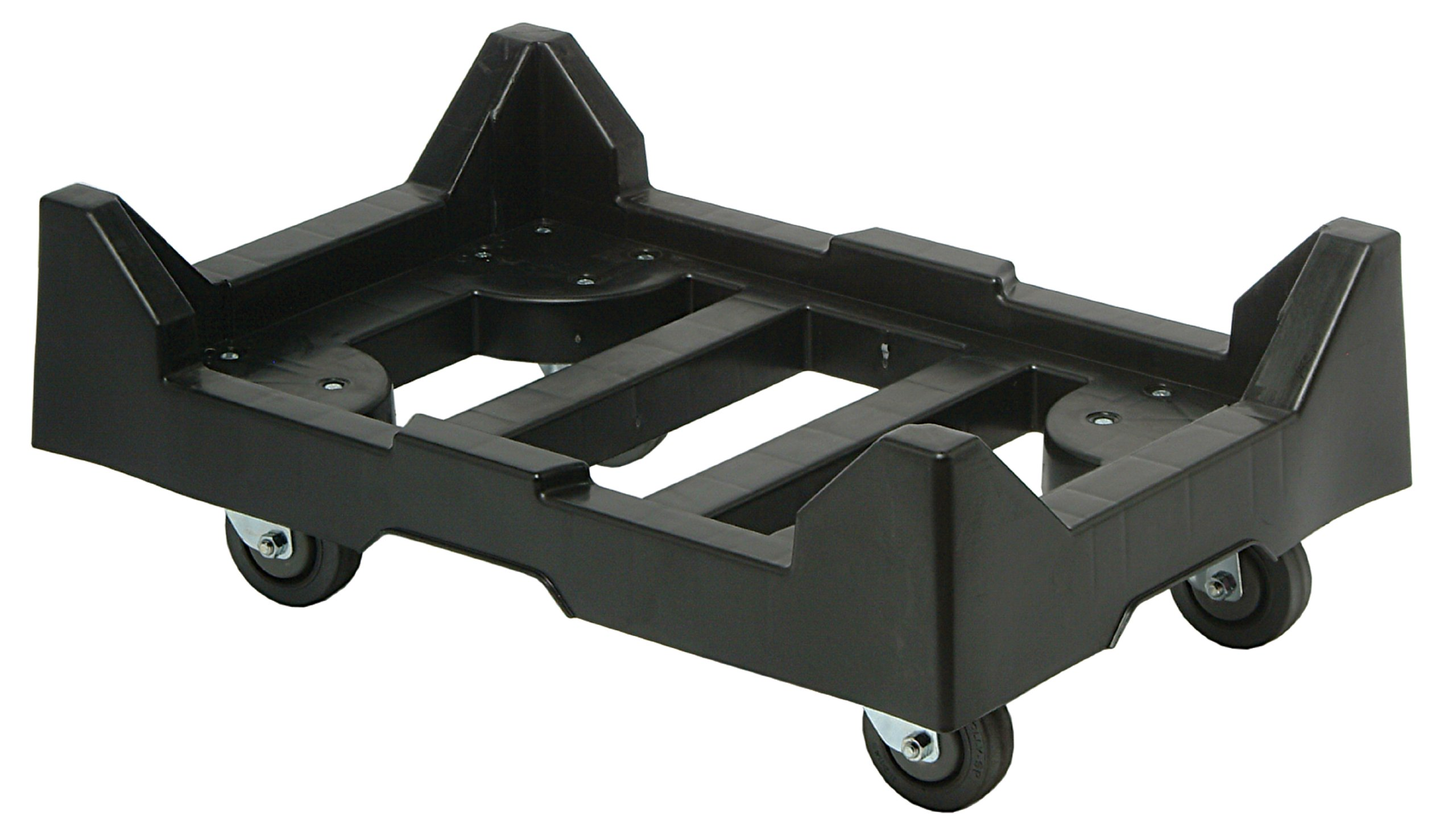 Quantum DLY-2415 Plastic 24-Inch by 15-Inch Dolly with 1-Inch Ledge, Black