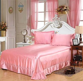 Generic Glanz Satin Bettbezug Bettwäsche Set 4 Teilig In 3 Größen 13