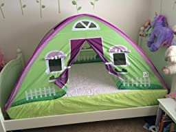 pacific play tents cottage bed tent twin size toys games. Black Bedroom Furniture Sets. Home Design Ideas