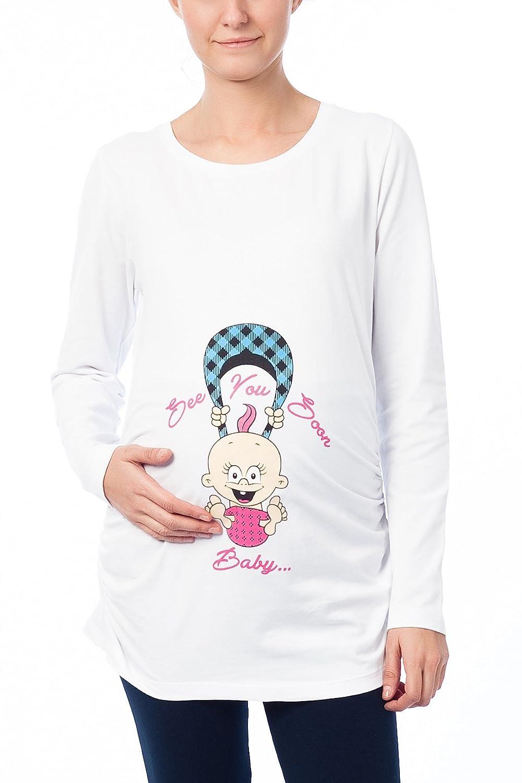 STRIR Blusa Embarazada para Premam/á,Camiseta de Maternidad Divertido Estampada de Manga Corta Premam/á para Mujer Embarazo Lactancia T-Shirt