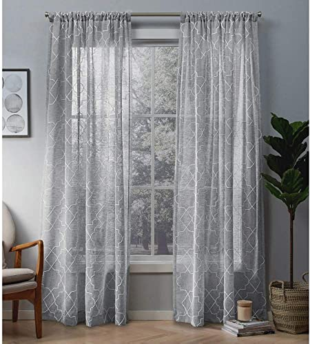 Best window curtain panel: Exclusive Home Curtains Cali Embroidered Sheer Window Curtain Panel Pair