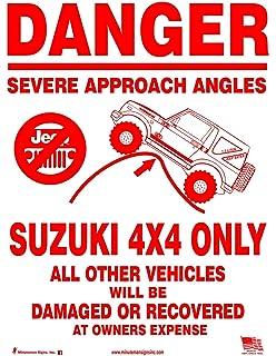 suzuki samurai 4x4 only aluminum novelty sign aluminum amazoncom stills office
