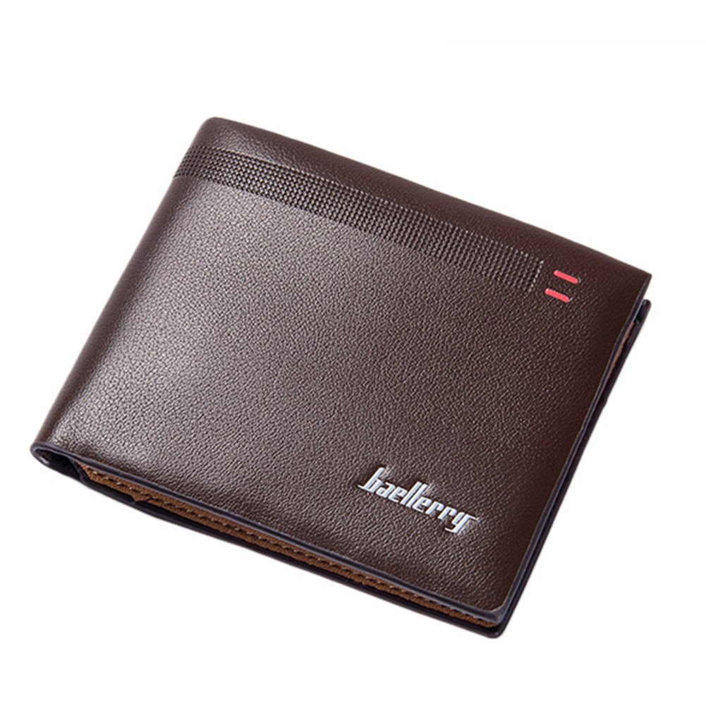 ywbtuechars Fashion Men Faux Leather Thin Card Holder Purse Business Short Wallet Gift Faux Leather Wallets for Men