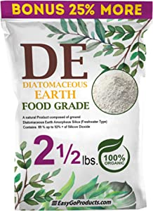 EasyGoProducts Diatomaceous Earth - 100% Natural Food Grade - DE Fresh Water – 2.5 Pounds