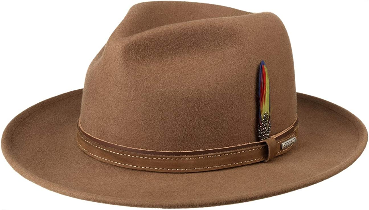 Stetson Sombrero de Fieltro Darico Fedora Hombre - con Banda Piel otoño/Invierno