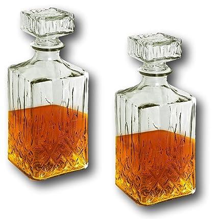 f.a.s – Juego de 2 Whisky Jarra con tapa de cierre Whiskey Scotch coñac licor vino