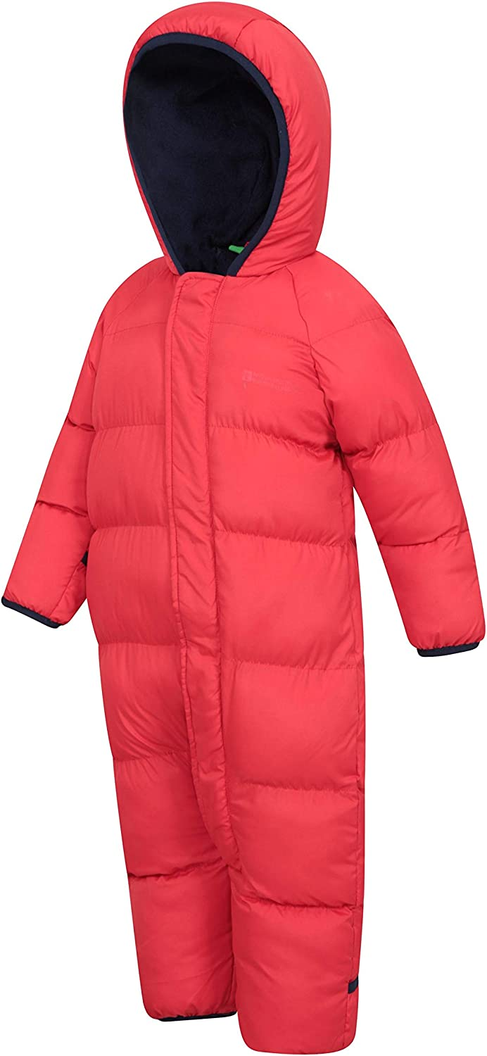 Hoodie Foot Cuffs Mountain Warehouse Frosty Junior Padded Suit Hand Fleece Lining Childrens Snowsuit Ideal for Winter Holidays Central Zip