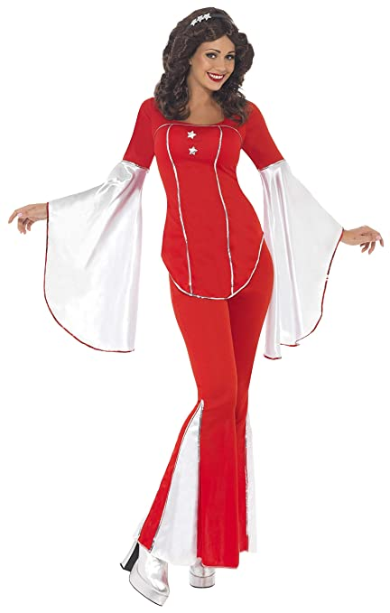 70s Costumes: Disco Costumes, Hippie Outfits Smiffys Super Trooper Womens Costume Red/White $71.24 AT vintagedancer.com