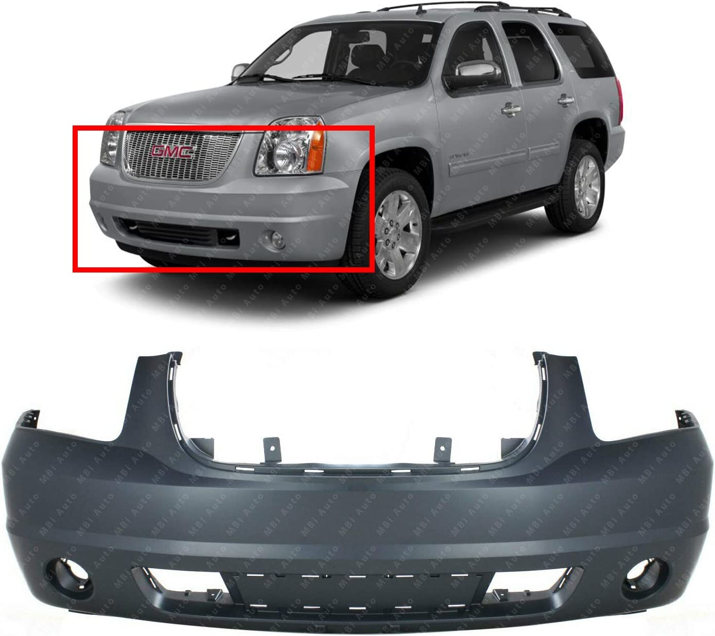 BUMPERS THAT DELIVER GM1000818 Front Bumper Cover Fascia for 2007-2014 GMC Yukon SUV 07-14 Primered